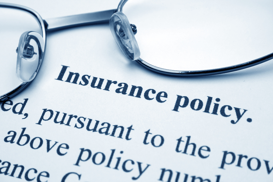 Close up of general business liability insurance
