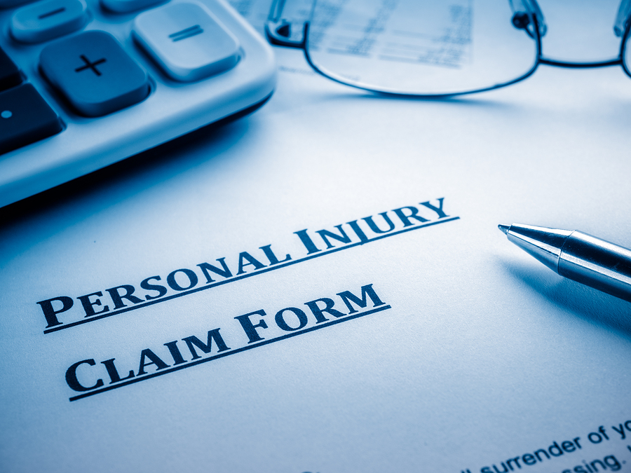 an image of an injury claim form