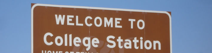 college station, texas welcome sign