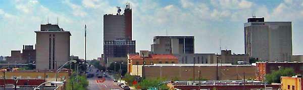 cityscape in Lubbock, Texas