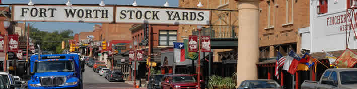 A photo of the Fort Worth Stock Yards