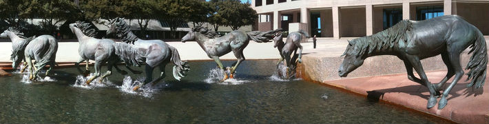 The Mustangs at Las Colinas in Irving, Texas
