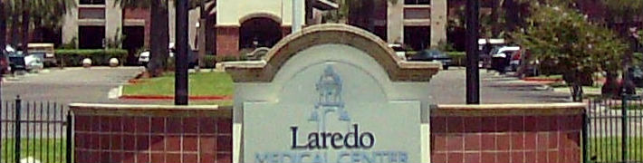 sign in front of Laredo, Texas