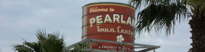 Pearland town sign