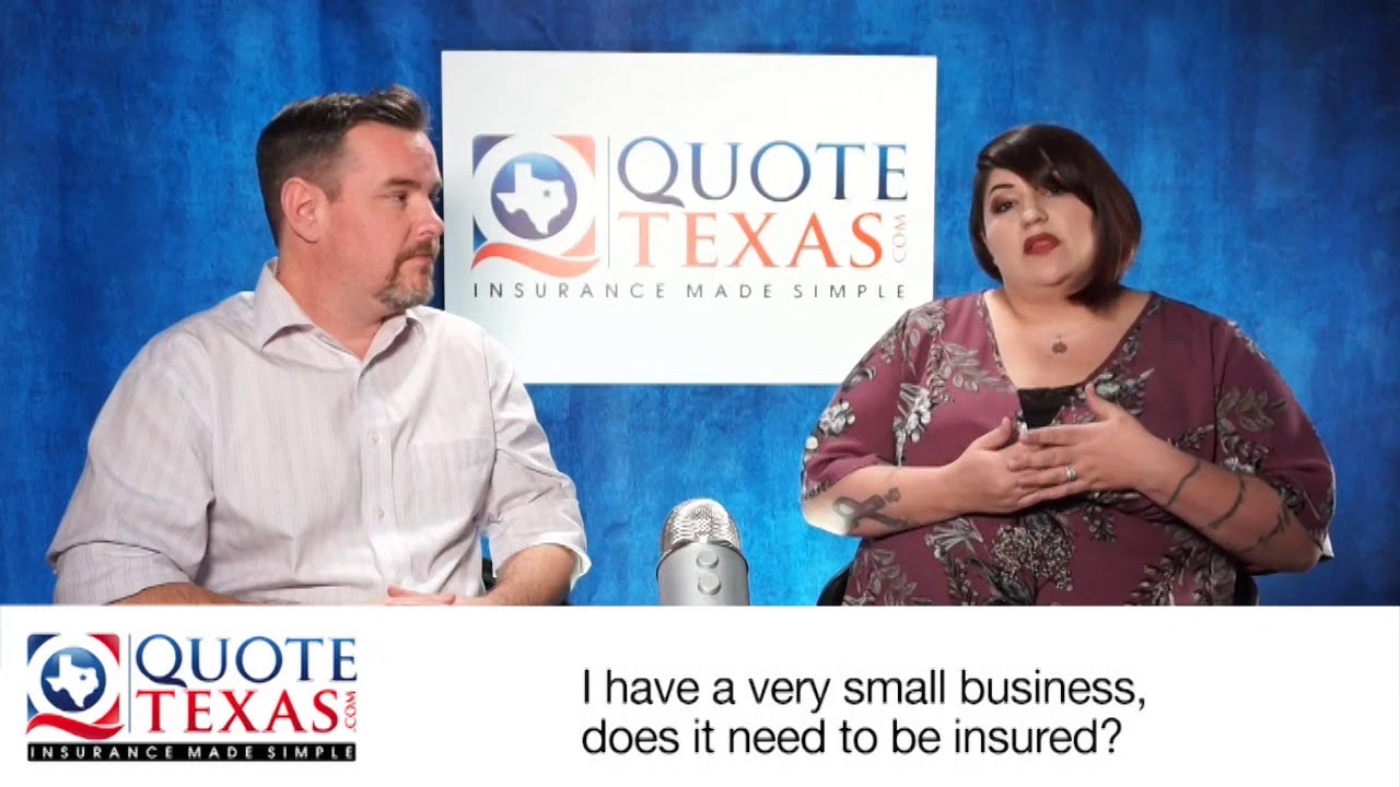 I have a very small business, does it need to be insured